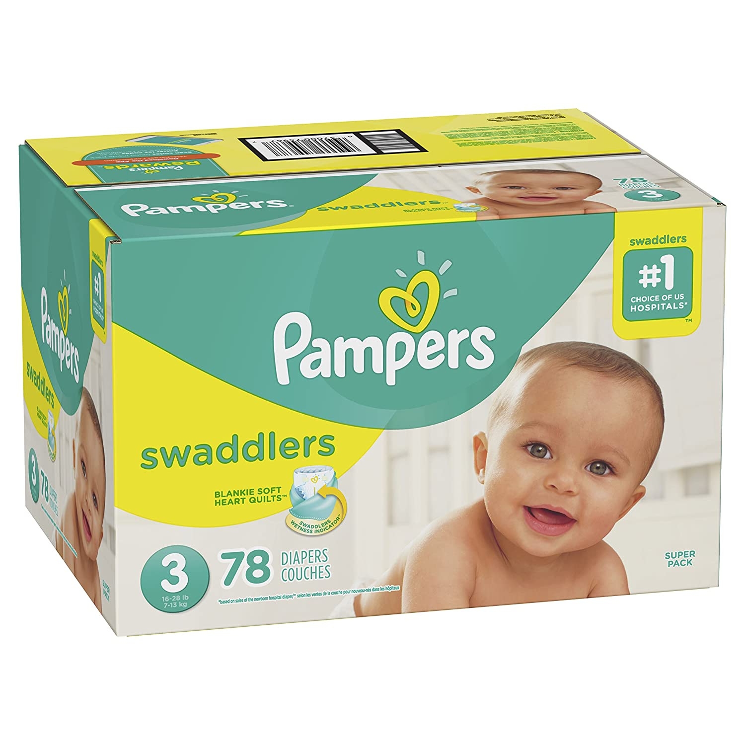 Super Pack 66 Count Swaddlers Disposable Baby Diapers Pampers Diapers Size 4