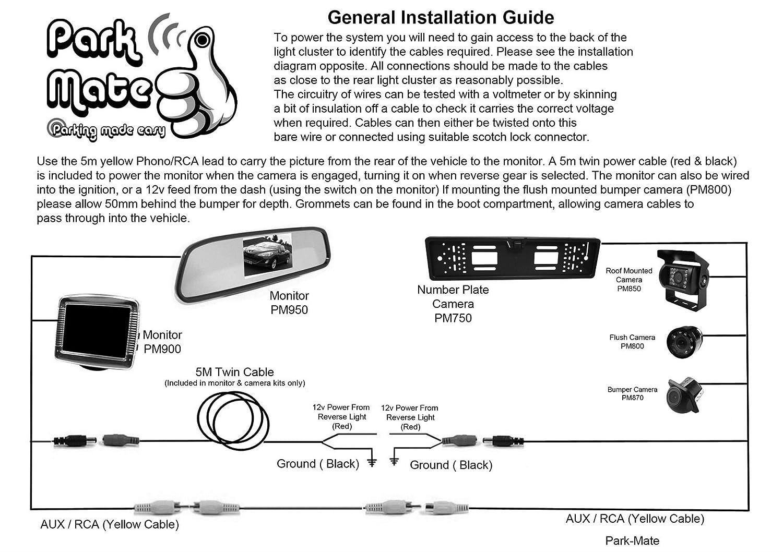 Nissan 350z 35 Monitor Rear Reversing Bumper Camera Park Mate Wiring Diagram Pm550 Car Motorbike