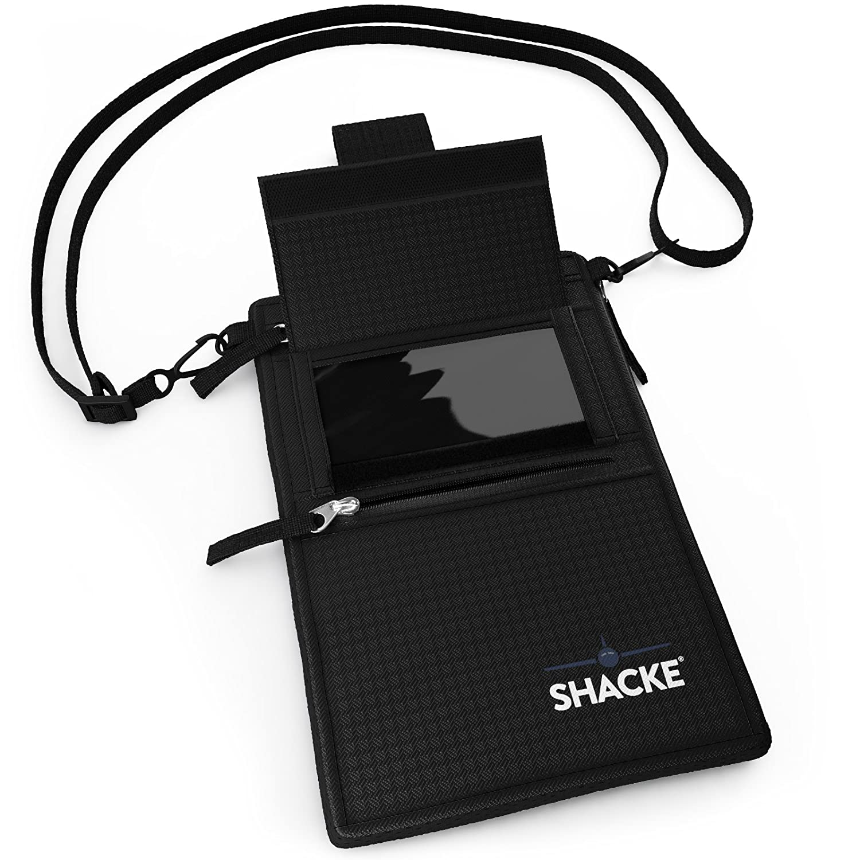 Shacke Hidden Travel Belt Wallet w//RFID Blocker