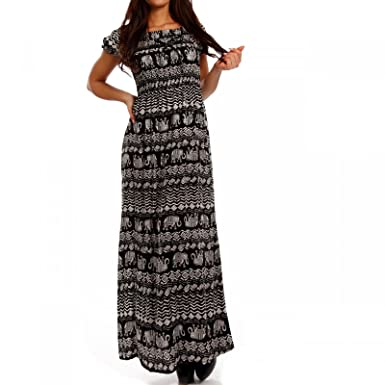Young-Fashion - Vestido - suéter - Étnica - Manga Corta - para Mujer Mehrfarbig/Model4 36/38: Amazon.es: Ropa y accesorios