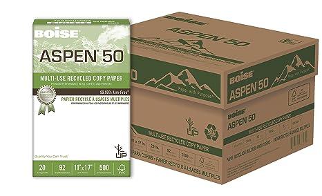 Amazon.com: Boise Aspen 50 Multi-Use reciclado Papel de ...