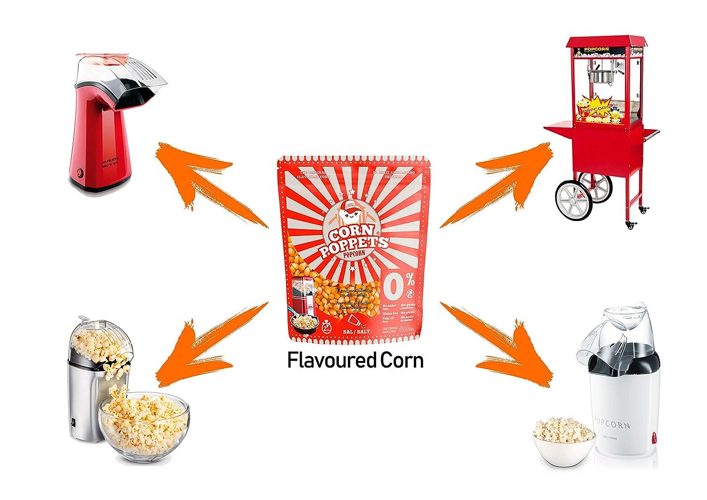 Maíz con sabor para palomitas corn poppets bag, pack de 3 unidades