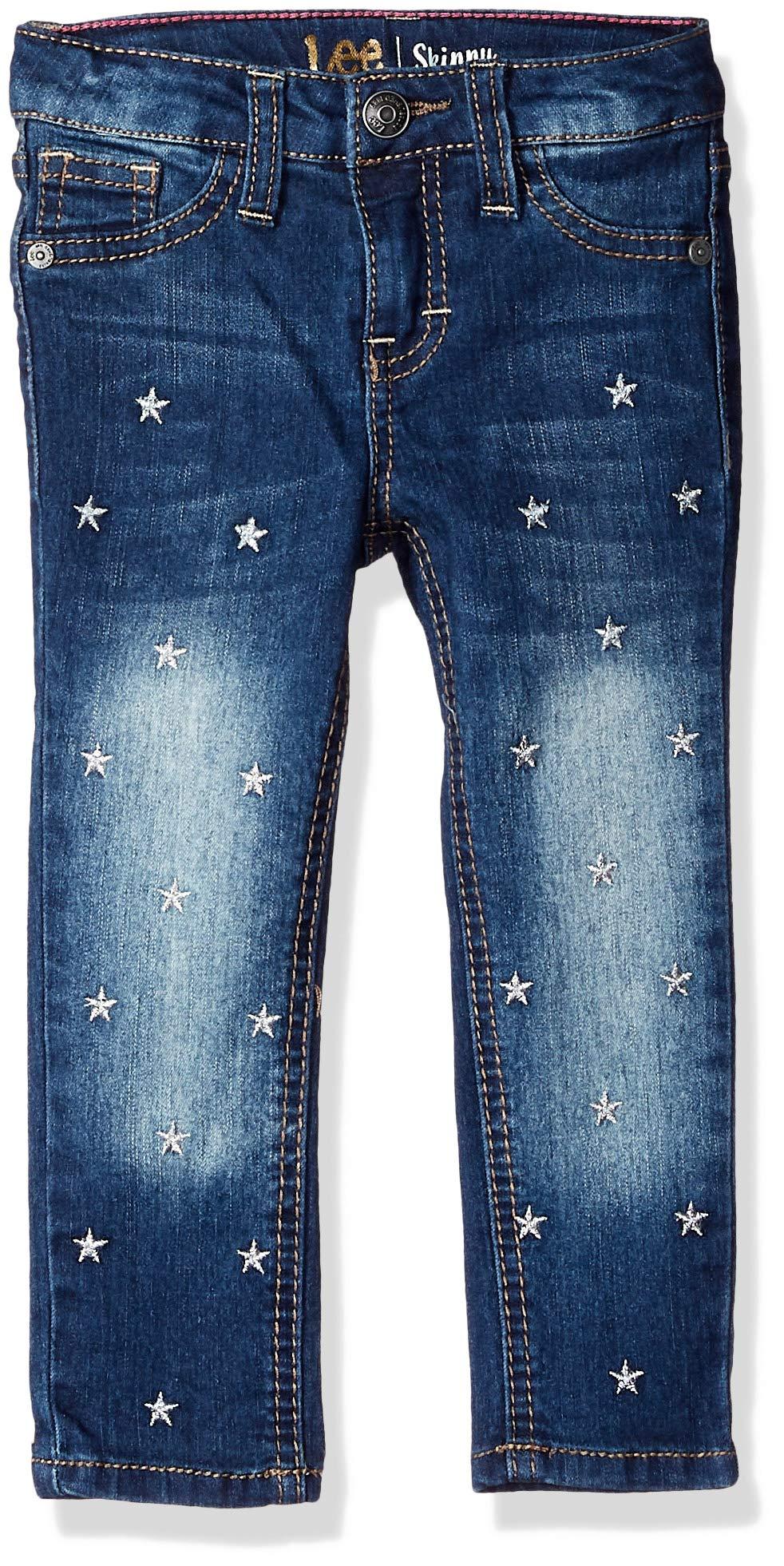 LEE Girls' Toddler Fashion Skinny Jean, Star Deep Blue, 3T