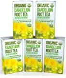 Dandelion Root Tea - Raw Organic Vitamin Rich Digestive - 5 pack (100 Bags 2 grams each) - Detox Tea - Ideal to Help Improve Digestion and Strengthen Immune System - Anti-inflammatory and Antioxidant