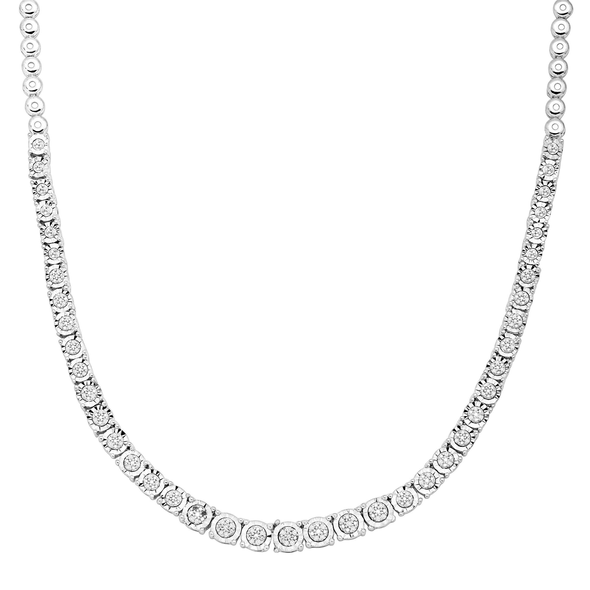 1/3 ct Diamond Tennis Necklace in Sterling Silver