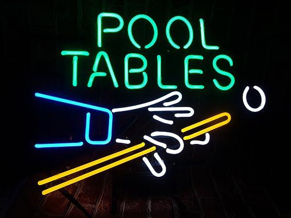 Billiards Pool Table Neon Sign W X H Inch Neon Lights - Neon pool table