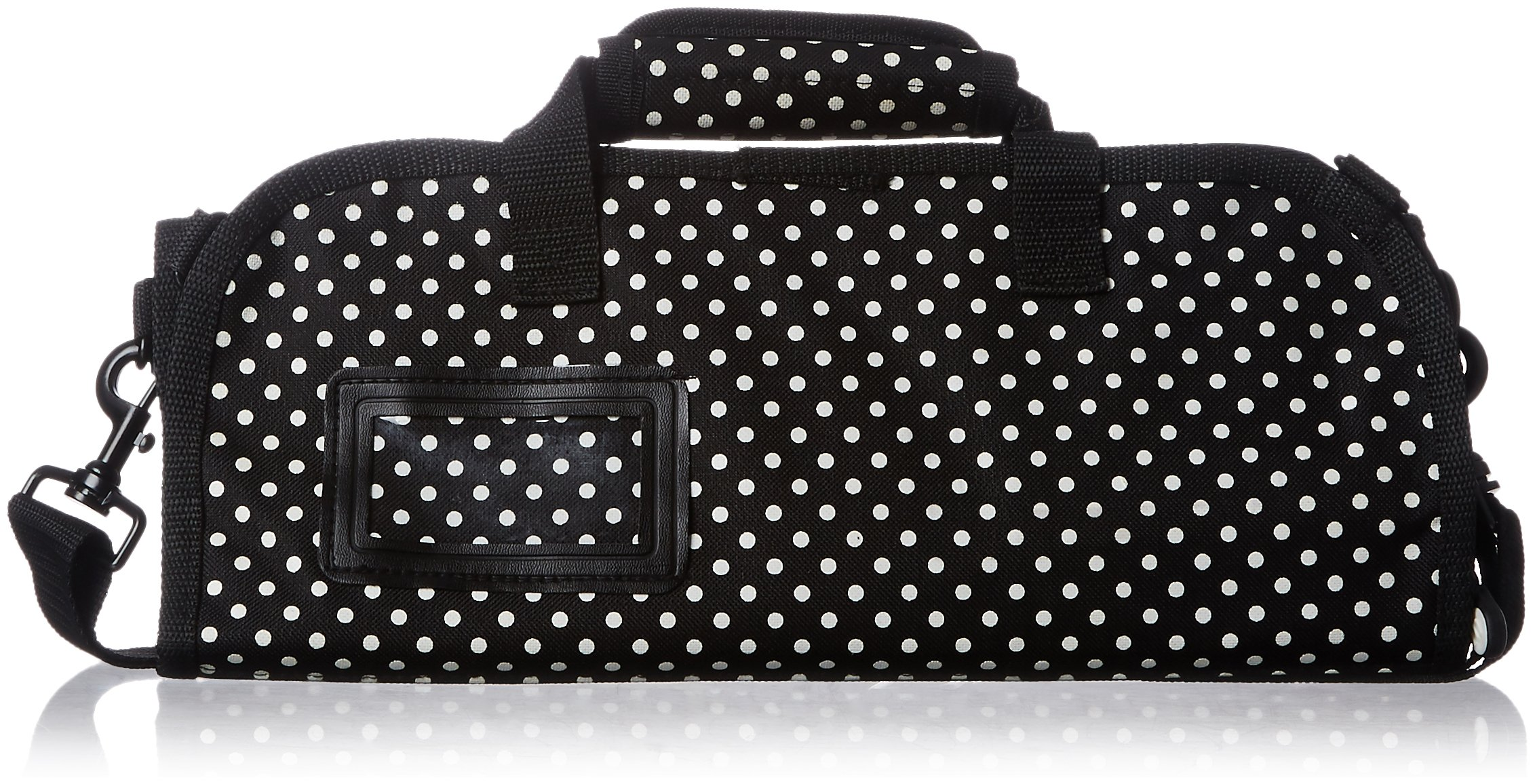 Messermeister Co 6-Pocket Knife Roll, Black with White Dots