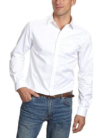 Jack   Jones Premium Chemisier Business - coupe cintrée - Col Chemise  Classique - Manches Longues Homme b3af47804c60
