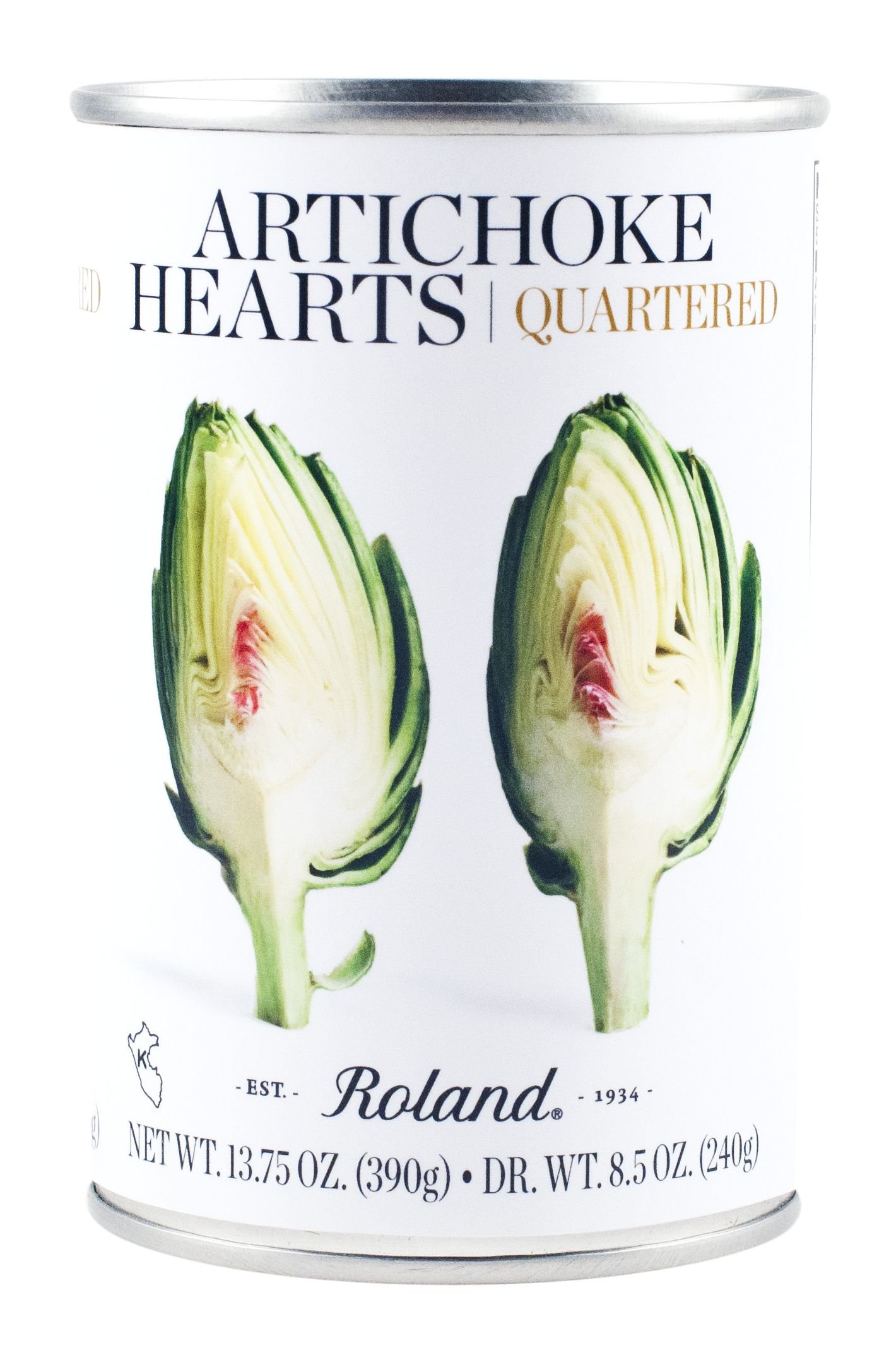 Roland Foods Artichoke Hearts, Quartered, 13.75 Ounce (Pack of 12)