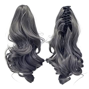 Claw Clip On Short Curly Layered Ponytail Hair Extension