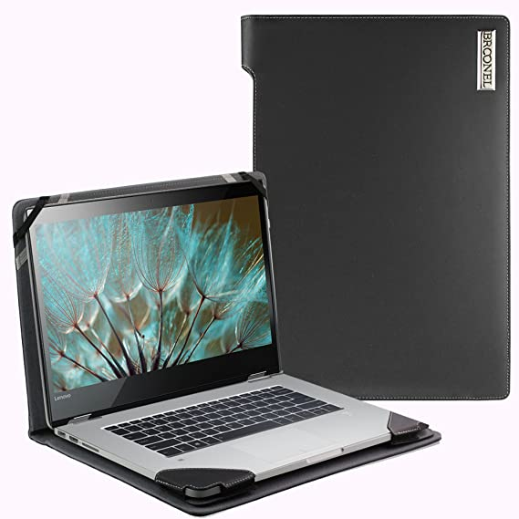 more photos 7aaf9 bfc62 Broonel London - Profile Series - Black Vegan Leather Laptop Case Cover  Sleeve For The Lenovo Yoga 520 (14