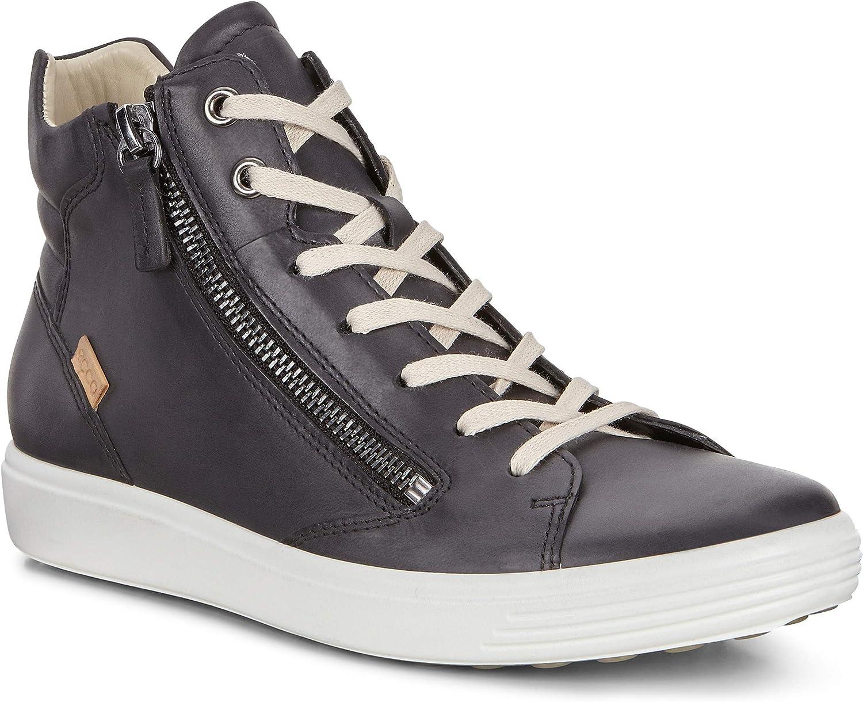 ECCO Women's Women's Soft 7 Zip High Top Fashion Sneaker