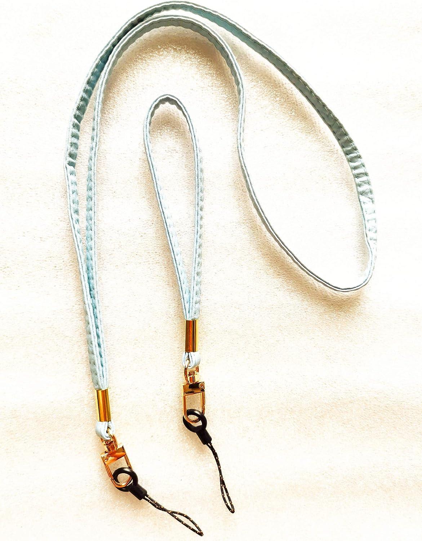 2 Pack Handmade PU Wrist Straps Flat Leather Hand Wrist Lanyard Strap String Wrist Wraps Holder for Camera//Purse//Keychain//iPod//PSP//Wii//USB Drives etc Pink//Light Blue