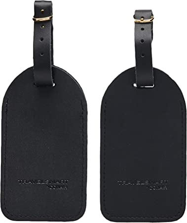 TRAVEL SMART Large Leather Luggage Tag