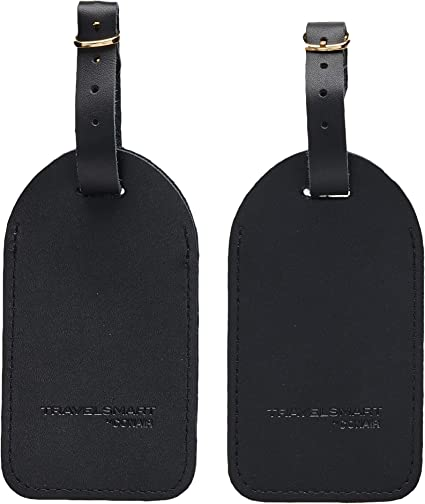 GoldK Chemical Science Leather Luggage Tags Baggage Bag Instrument Tag Travel Labels Accessories with Privacy Cover