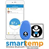Infanttech Smarttemp - Unlimited Use Wearable Smart Thermometer, 24/7 Monitoring Without Disturbing Your Sick Child, FDA Approved Medical Grade Bluetooth Baby Thermometer with Mobile Alerts