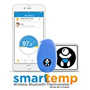 Infanttech Smarttemp - Unlimited Use Wearable Smart Thermometer, Monitoring Without Disturbing Your Sick Child, FDA Approved Medical Grade Bluetooth Baby Thermometer with Mobile Alerts