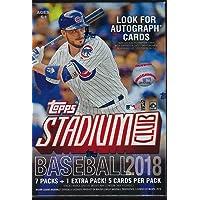 $21 » 2018 Topps STADIUM CLUB Baseball Series Unopened Blaster Box with Chance for Chrome…