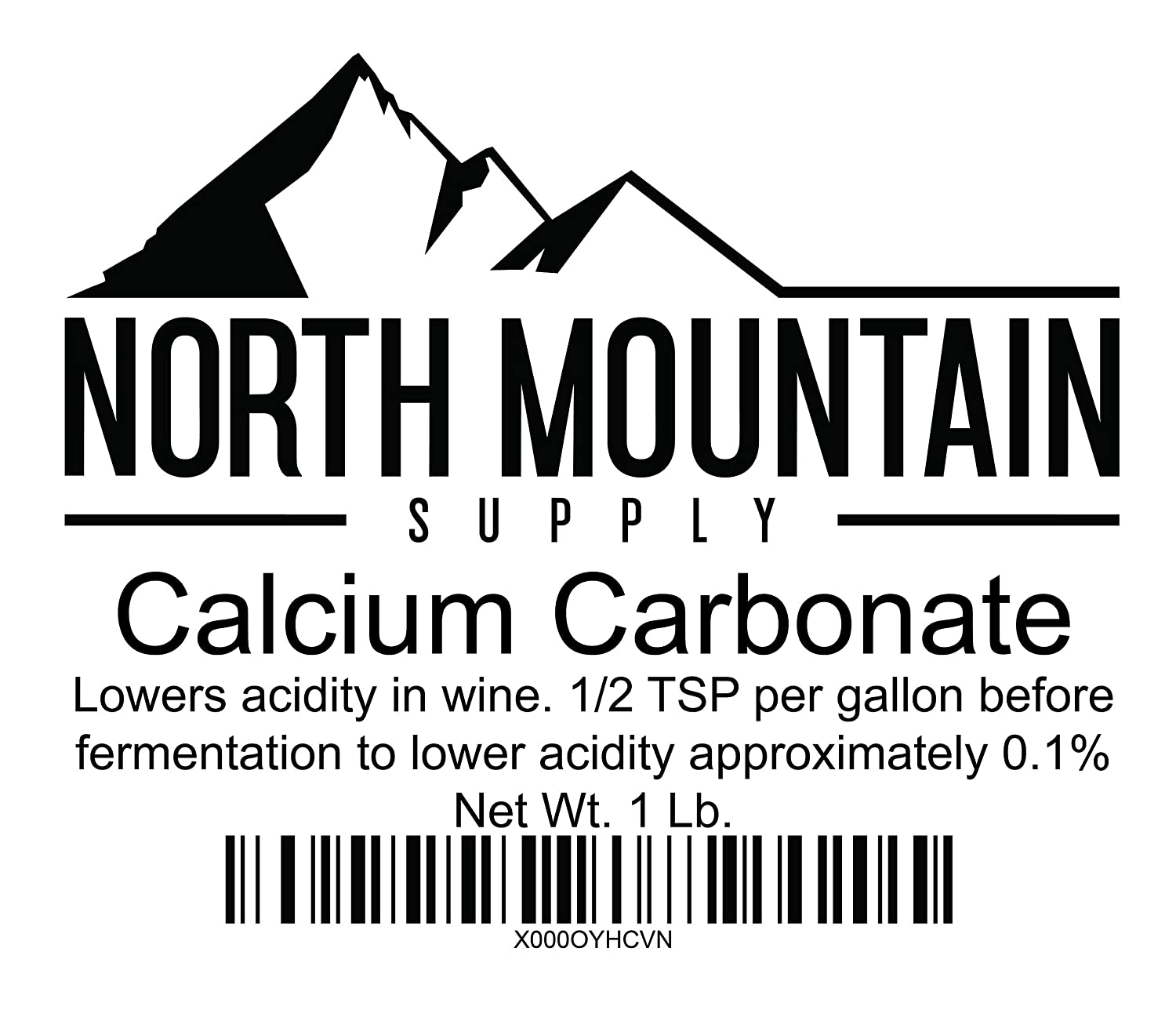 North Mountain Supply Food Grade Calcium Carbonate 1 Pound Bag