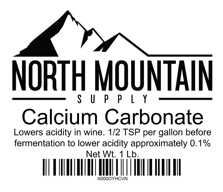 North Mountain Supply Food Grade Calcium Carbonate 1 Pound Bag