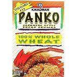 Kikkoman Japanese Style Whole Wheat Panko Bread Crumbs 8 ounce Resealable Package