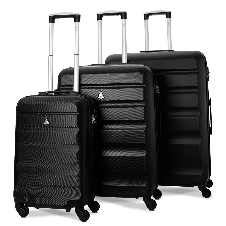 4f54b98f4dcc Aerolite Lightweight 4 Wheel ABS Hard Shell 3 Piece Luggage Suitcases Set,  21