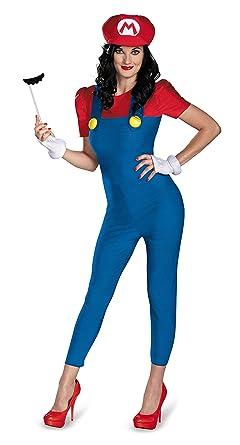 disguise womens nintendo super mario brosmario female deluxe costume bluered