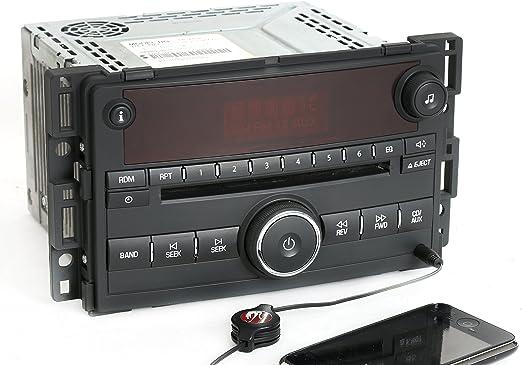 1 Factory Radio AM FM 6 CD Radio w Bluetooth Upgrade Compatible With 2003-05 GMC Chevrolet Truck 15196055