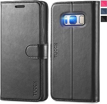 TUCCH Funda Galaxy S8 Plus, Funda de Cuero PU con [Garantía de por ...