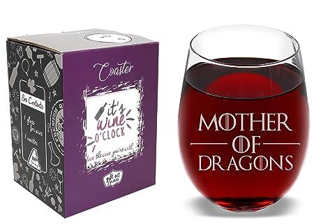 Vaso de vino con posavasos, diseño de madre de dragones ...