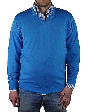 Redmond Pullover mit V-Ausschnitt blau  Amazon.de  Bekleidung 715cfa44ee