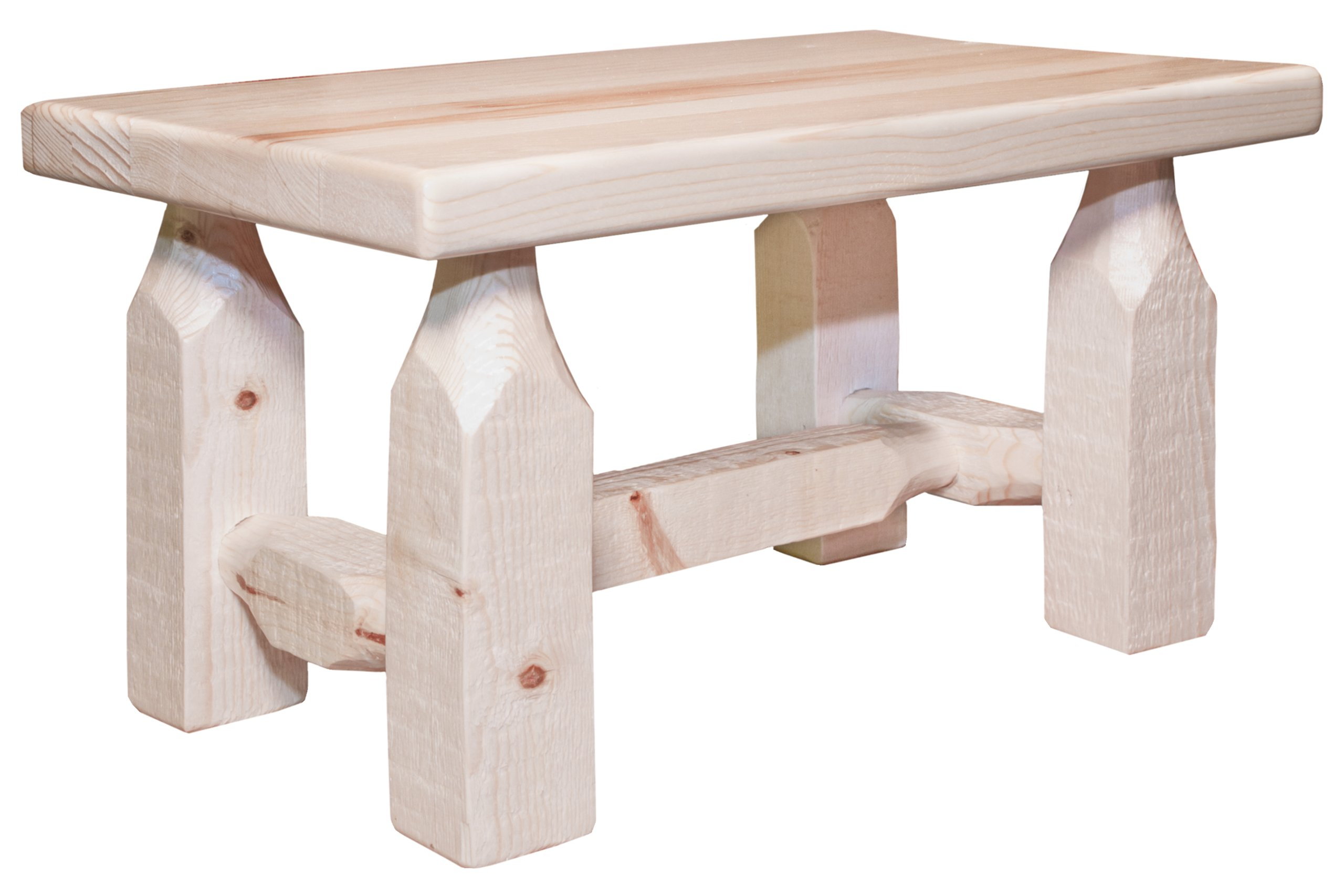 Montana Woodworks MWHCFSV Homestead Collection Footstool, Clear Lacquer Finish