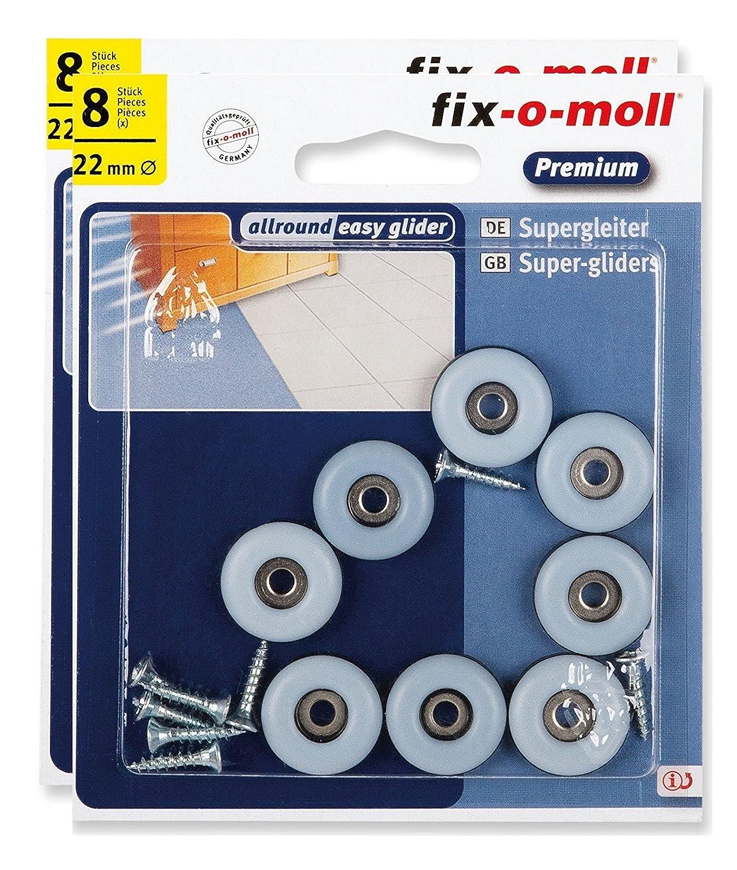 fix-o-moll Deslizadores universales de politetrafluoroetileno PTFW, color gris
