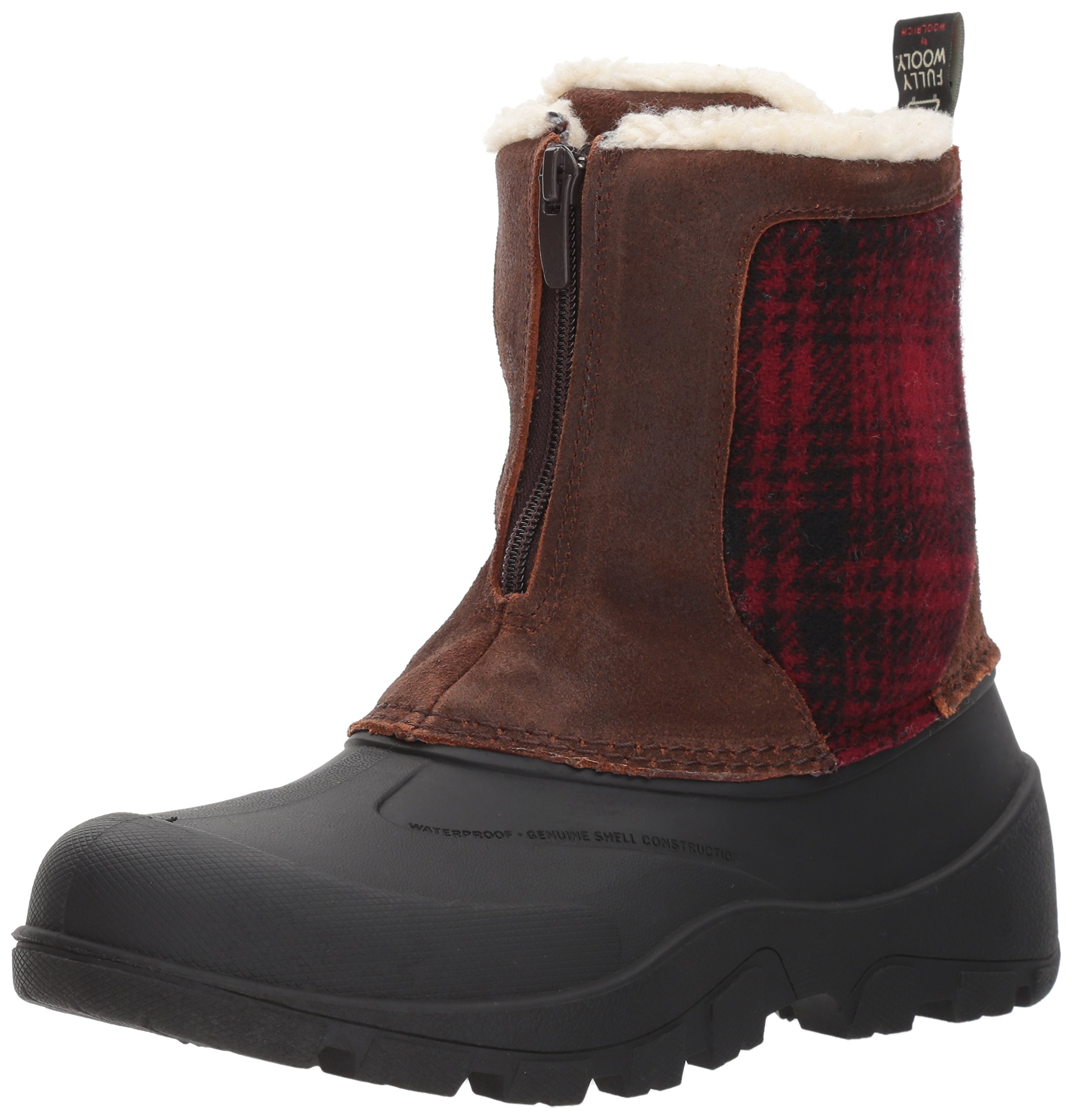 Woolrich Women's Fw Icecat Snow Boot, Coconut/Red Hunting Plaid, 8 M US