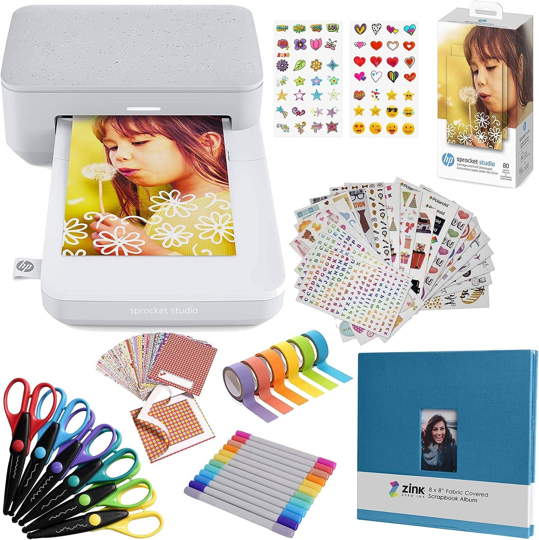 "HP Sprocket Studio 4x6"" Instant Photo Printer – Photo Album Bundle"