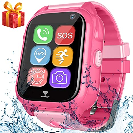 Kids Smart Watch Phone with GPS Tracker Pedometer SOS Camera Sport Fitness Tracker for Boys Girls Digital Wrist Watch Bracelet Wristband Alarm Clock ...