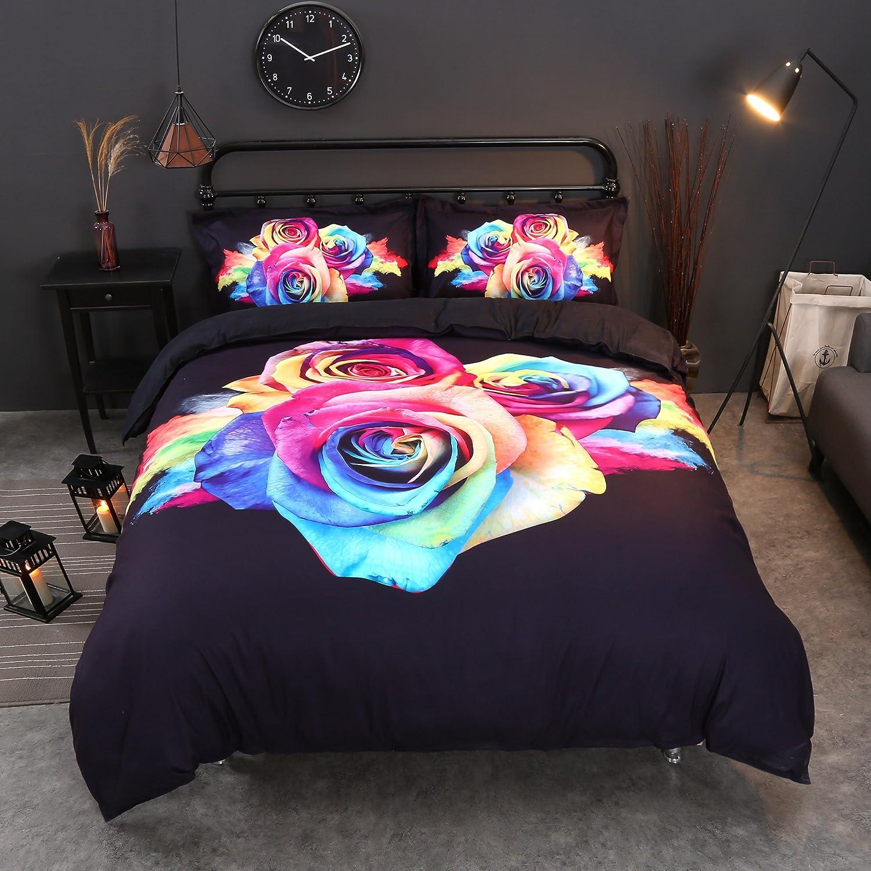3d寝具 クイーン ブラック B078N7X2XP クイーン|ブラック ブラック クイーン