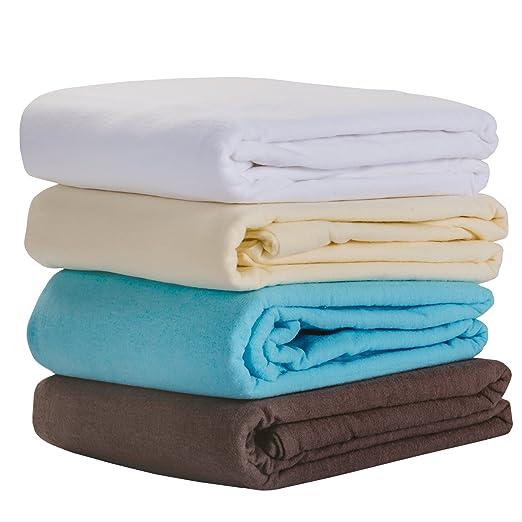 Earthlite 44355 - Juego de sábanas para camilla de masaje, color blanco natural: Amazon.es: Salud y cuidado personal