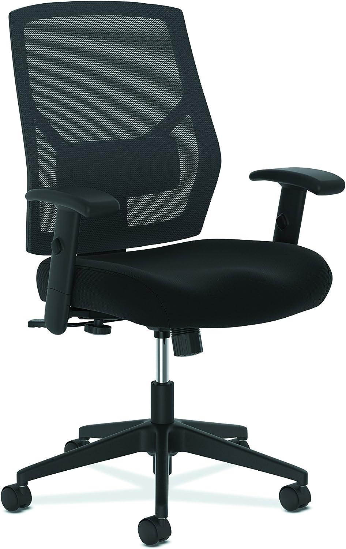 The HON Company BSXVL581ES10T basyx by Task Chair, High-Back Swivel/Tilt, Fabric