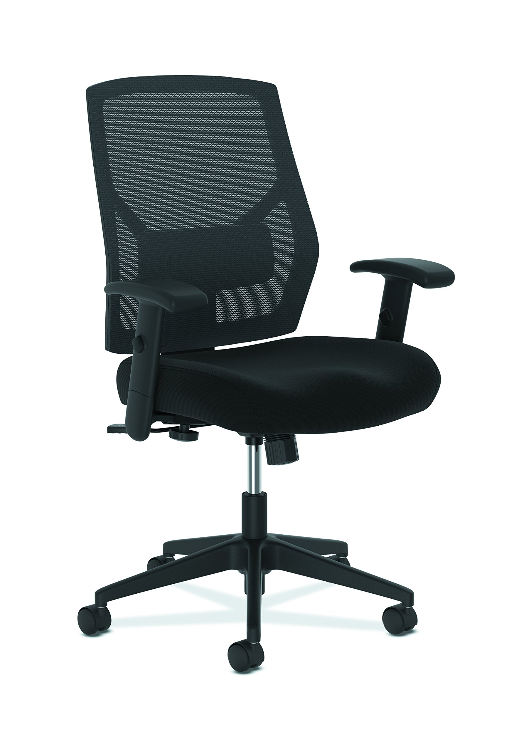 The HON Company BSXVL581ES10T HON Crio High Task Fabric Mesh Back Computer Chair for Office Desk, Black (HVL581), Swivel/Tilt by HON