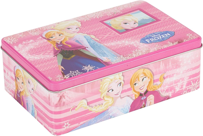 /Il Pranzo Scatola di latta per biscotti barattolo per biscotti Cupcake Storage Set Regalo Anna /& Elsa Oblong Tins Frozen Disney/