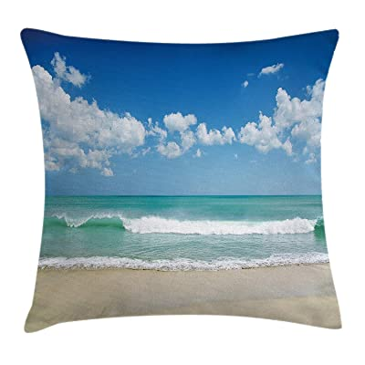 Nextchange Beach Summer Sea Sky Clouds Happy Holiday Pillow Cover Decoration Outdoor Garden Bench Decor Cushion Case Double Sides : Industrial & Scientific