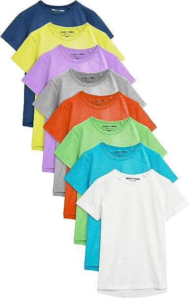 next - Camiseta de Manga Corta para niño Multicolor 6-7 Años: Amazon.es: Ropa y accesorios