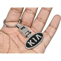 3D Laxury KIA Logo Keychain KIA Key Ring KIA Key Bunch KIA Key Chain for KIA Cars - Metal (Black)