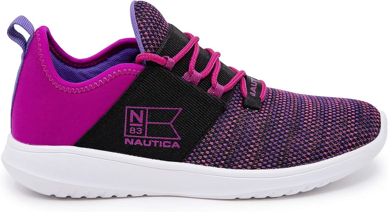 Nautica Damen Fashion Sneaker Schnürschuh Jogger Laufschuh Casual Walking Sneaker Lila Heather