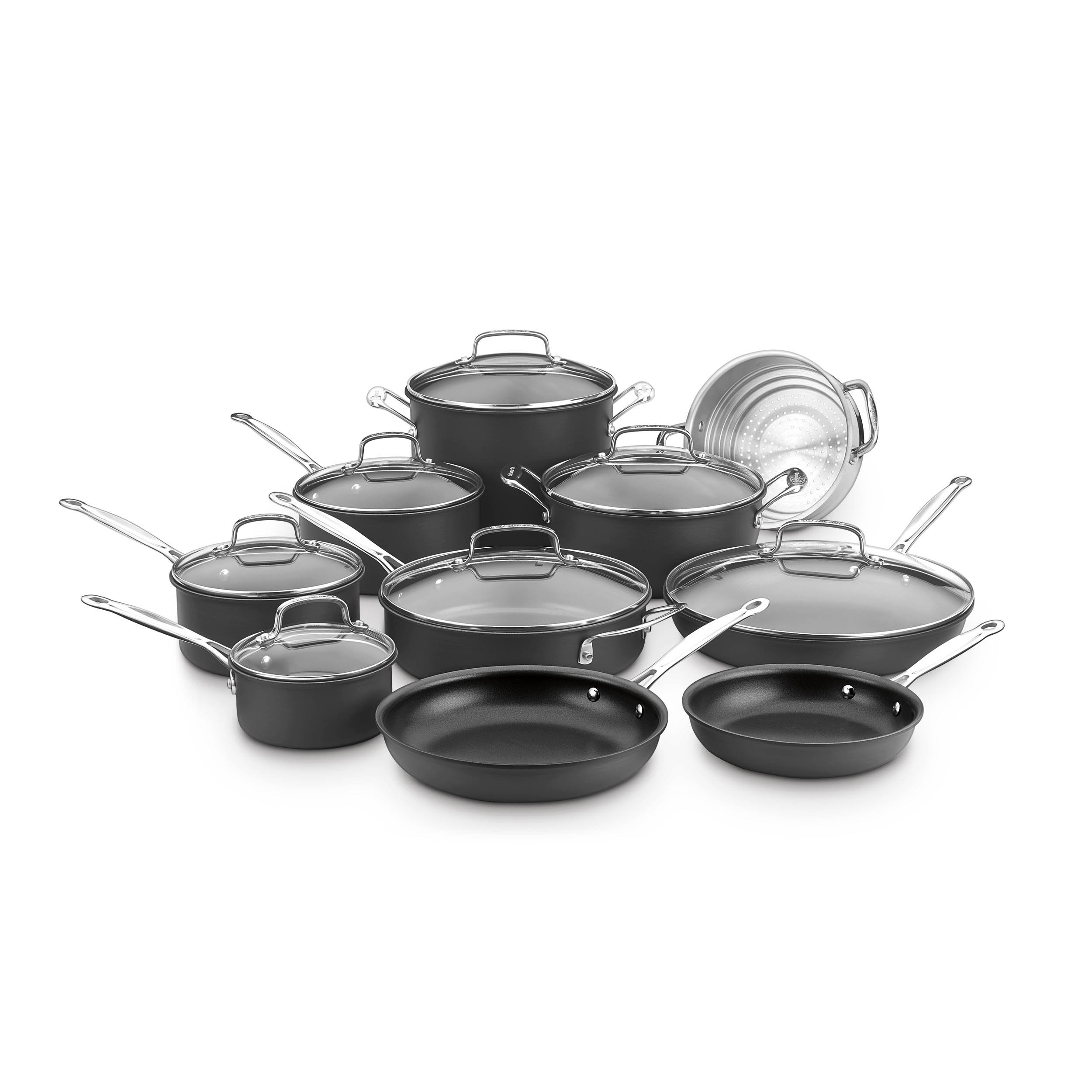 Cuisinart 66-17N Chef's Classic Non-Stick Hard Anodized, 17 Piece Set, Black by Cuisinart