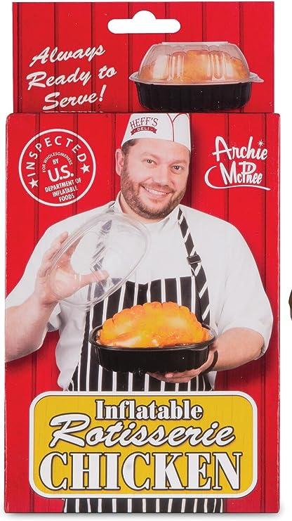 Amazon.com: Archie McPhee - Asador hinchable de pollo: Toys ...