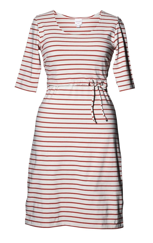 Boob Design Umstands- und Stillkleid 'Simone' rot oder schwarz gestreift
