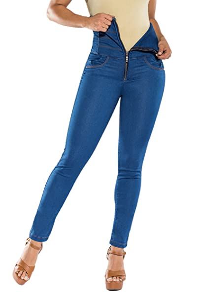 Curvify Super High Waisted Butt Lift Skinny Jeans Tummy Control - Cintura Alta