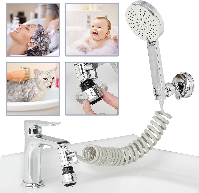 Portable Spray Shampoo Sink Hose Bathroom Multi Purpose Kitchen Head Sprayers